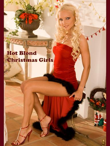 ホット ブロンド クリスマスの女の子
