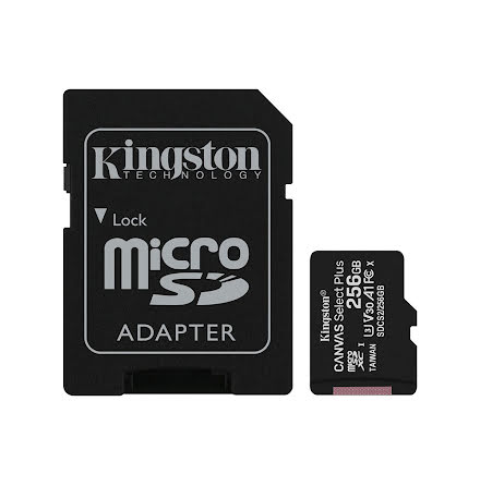 Minnekort, Kingston Canvas Select Plus microSD 256GB Class 10