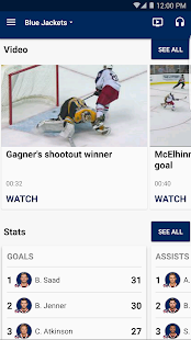 Columbus Blue Jackets- screenshot thumbnail