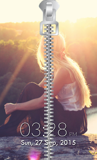 Zipper Lock Screen