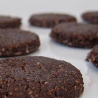 Raw Vegan Chocolate Cashew Cookies.