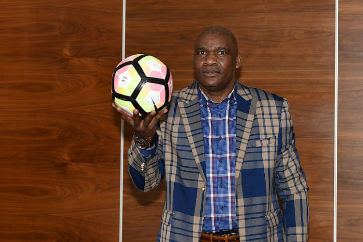 Molefi Ntseki as the interim coach of Bafana Bafana during the South African National Football squad announcement at SAFA House on August 23, 2019 in Johannesburg, South Africa.