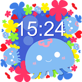 Fuwapuka watch - cute free digital clock widget -