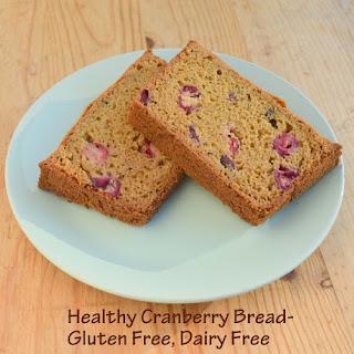Healthy Cranberry Bread Gluten Free Dairy Free with Orange