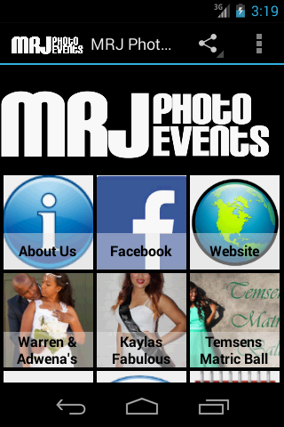 M.R.J Photo Events Portfolio 2- screenshot