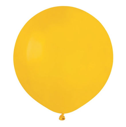 Ballonger helrunda 48 cm, gula