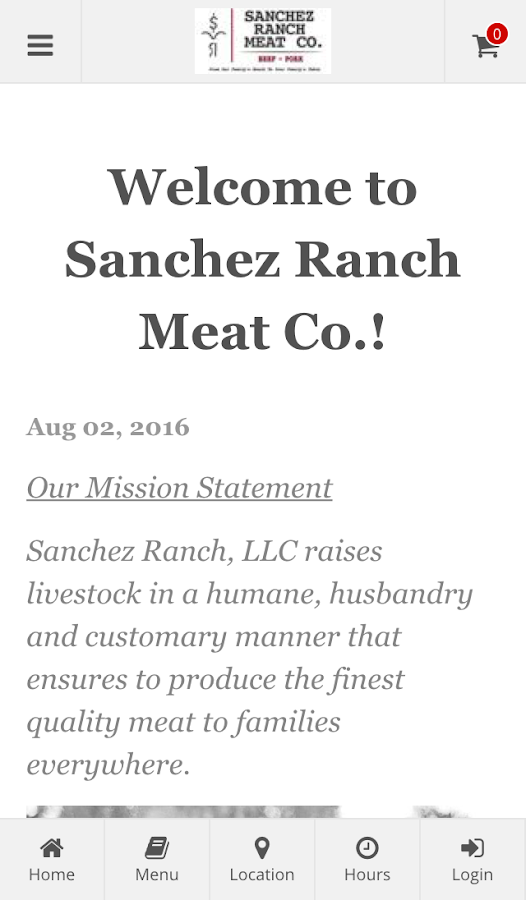 Sanchez Ranch Online Ordering- screenshot