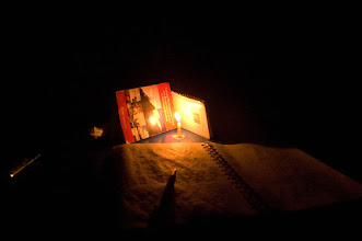 Photo: Journal by candle light