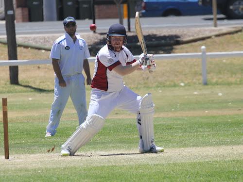 PDCA's Steve Phelps in action in Sunday's win against Moree at Hogan Oval, Narrabri.