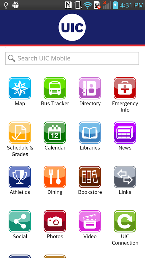 UIC Mobile- screenshot