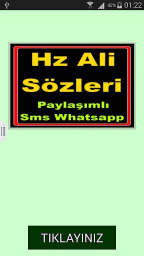 Hz Ali Sözleri Kısa Mesaj