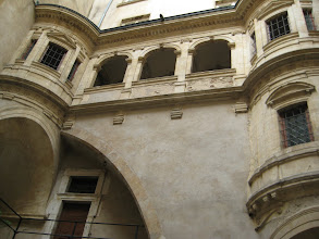 Photo: A feature of Lyon is covered passageways known as traboules that cut through the middle of blocks.  Often there is a courtyard with nice apartments looking into it.