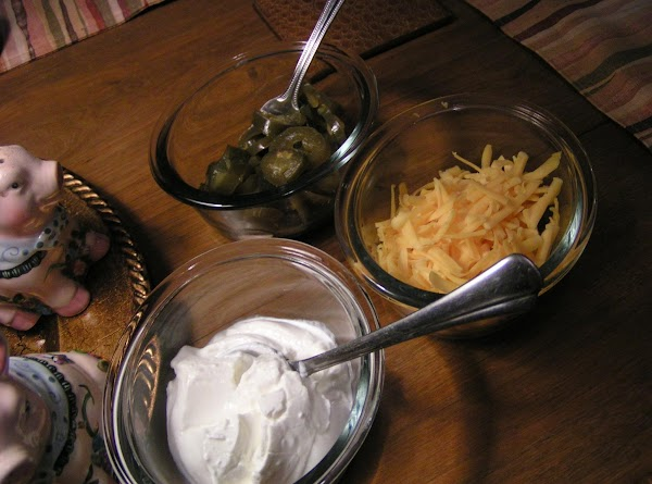 Serve with sliced jalapenos, chopped green onions, sour cream, shredded cheese, rice and http://www.justapinch.com/recipe/diane-smith/sweet-mexican-cornbread-dee-dees/other-bread....