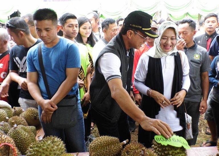 Festival durian di desa Karnggupito Kendal Ngawi