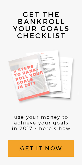 Get the Bankroll Your Goals checklist from Half Banked