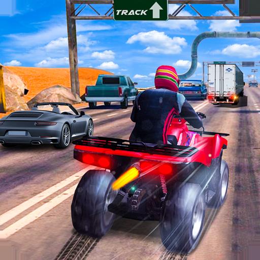 Extreme Quad Biker Race: Highway Drifting 3D Game