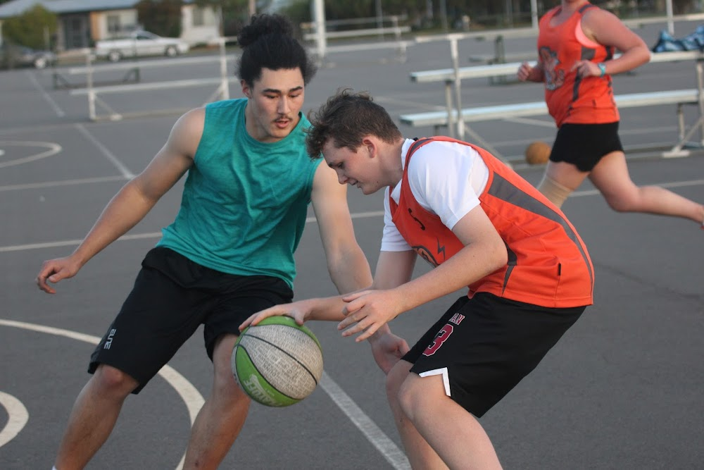 Giulio Heimoana and Kaleb Teer in action earlier this season