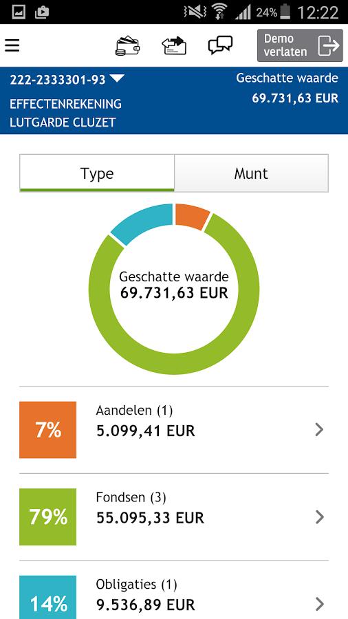 Fintro Easy banking: screenshot