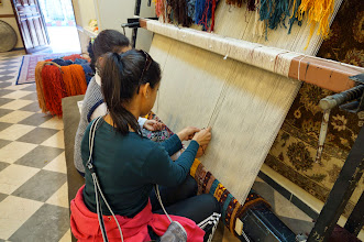 Photo: carpets are made one stitch at a time