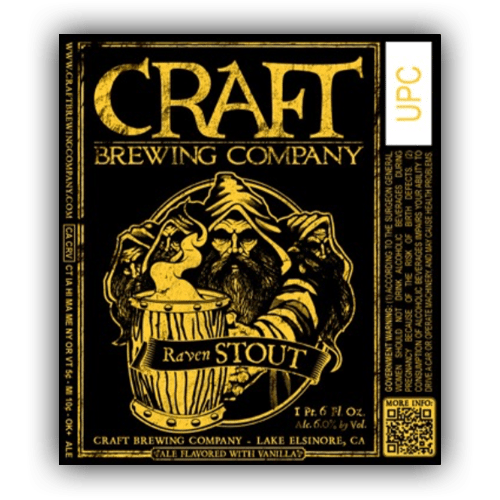 Logo of Craft Brewing Company Raven Stout