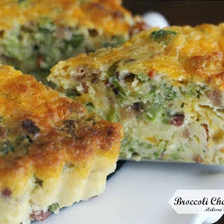 Broccoli Cheddar Bacon Quiche.