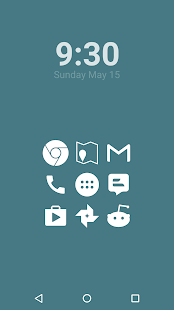 Stamped White Icons Screenshot 1