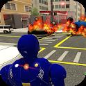 Grand Iron Superhero Flying - City Rescue Mission icon