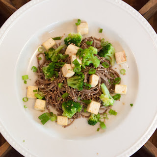 Sweet Sesame Noodles with Tofu and Broccoli
