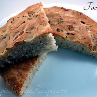 (Garlic Rosemary Focaccia Bread).