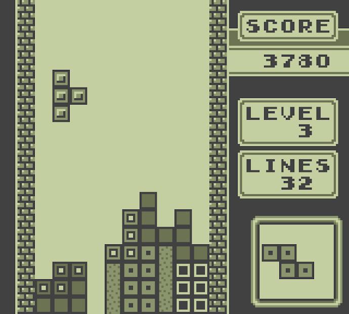 El Tetris original para el primer Game Boy...sabemos que estas tarareando en tu mente la canción.