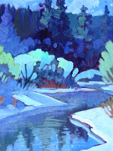 Photo: Blackwood Canyon Winter, oil on canvas by Nancy Roberts, copyright 2014. Private collection.