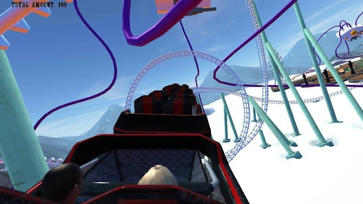 Theme Park With Roller Coaster - screenshot