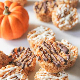 Pumpkin Spice Rice Krispie Treat Bites