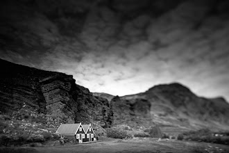 Photo: Iceland is really tiny. So are the houses. Itty bitty. And black and white.