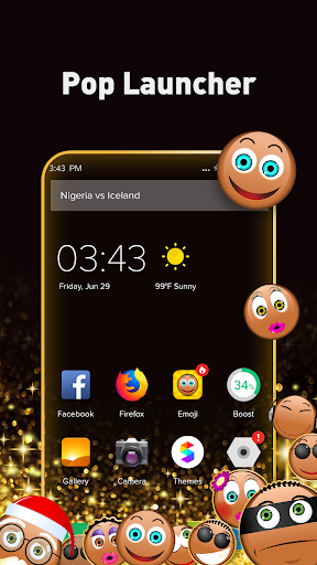 Pop Launcher - Black Emojis & Themes 1.1.10 1