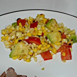 Roasted Corn and Avocado Salad  (a Hezzi-D original)