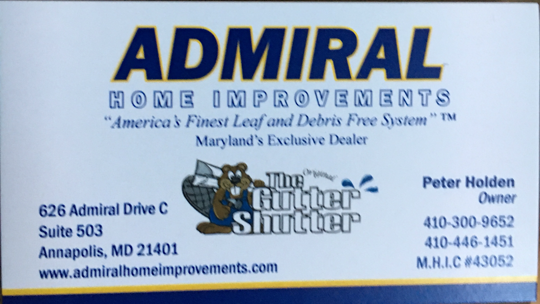 Admiral Home Improvements Llc Guttershutter Of Maryland Roofing