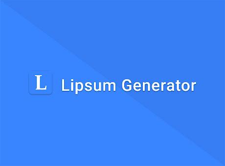 Lipsum Generator