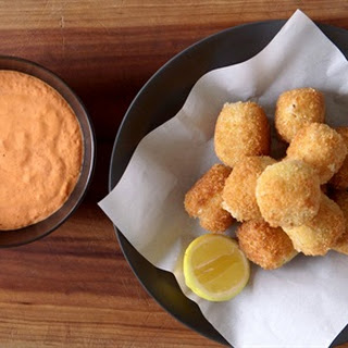 White Bean Croquettes with Red Pepper Mayo