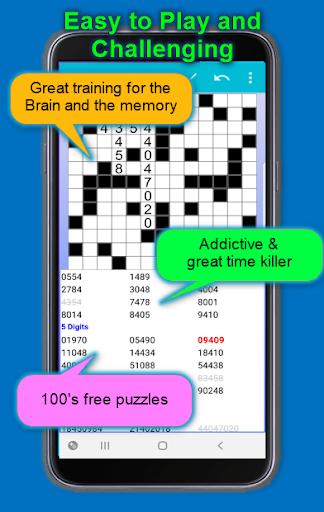 Number Fill in puzzles - Numerix, numeric puzzles 6.6 Screenshots 3