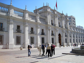 Photo: Day 1 - The Presidential House in Santiago