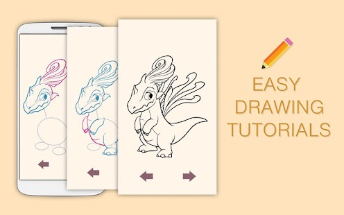 Draw Drawings Legendary Dragons and Monsters Mania - náhled
