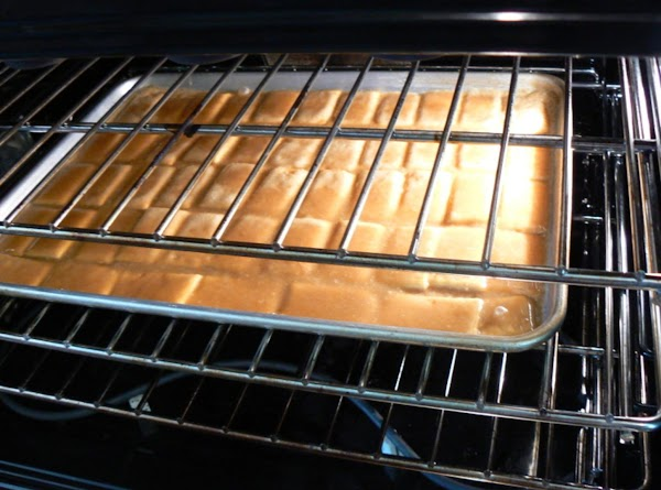 Place sheet in a preheated oven for 5 minutes.Remove from oven.