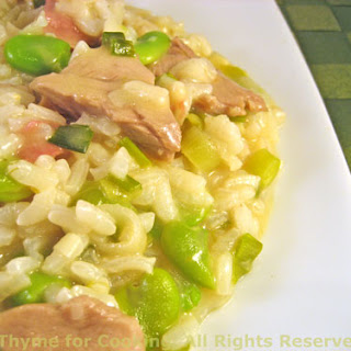 Risotto with Lamb, Fava (Broad) Beans and Green Garlic