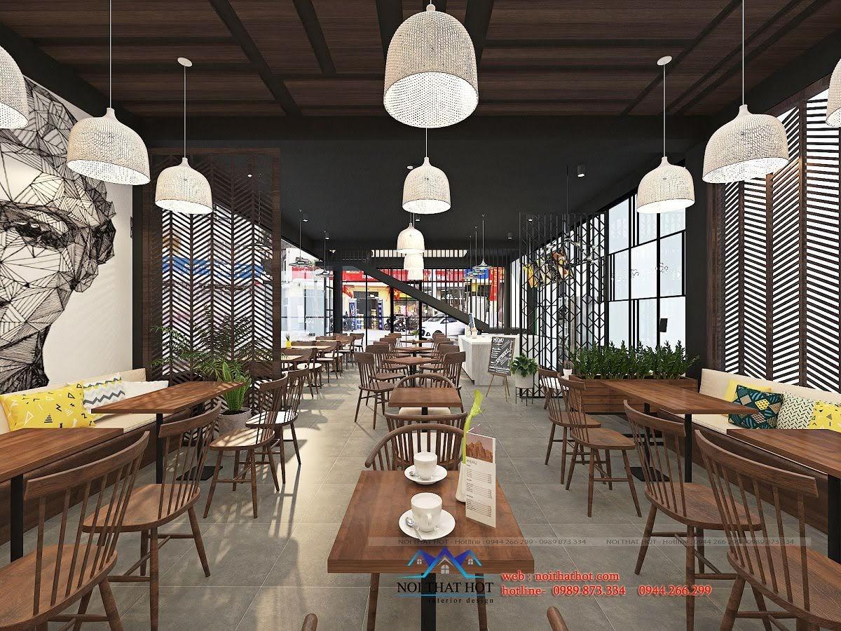 thiết kế quán trà sữa cafe và siêu thị 8