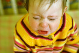 Photo: Abby crying in crib