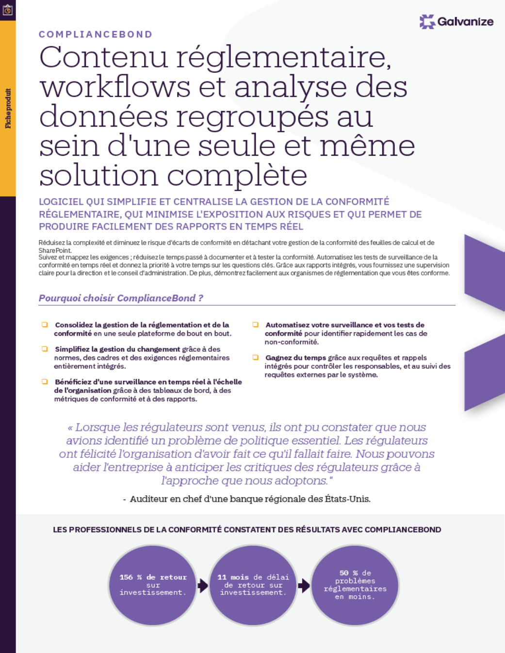 Contenu réglementaire, workflows et analyse des données regroupés au sein d'une seule et même solution complète