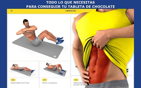 Plan de entrenamiento Abs Screenshot