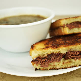 French Onion Soup with Braised Short Ribs.