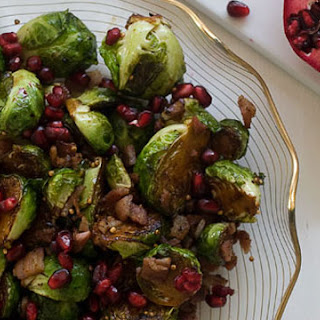 Brussels Sprouts with Pomegranate and Pancetta